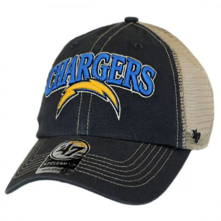 47 Brand Los Angeles Chargers NFL Tuscaloosa Mesh Fitted Baseball Cap