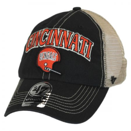 47 Brand Cincinnati Bengals NFL Tuscaloosa Mesh Clean Up Baseball Cap