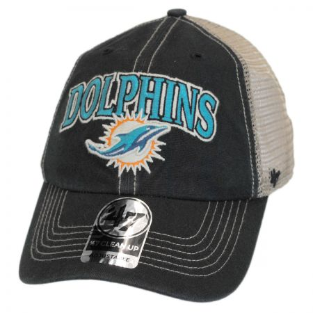 47 Brand Miami Dolphins NFL Tuscaloosa Mesh Clean Up Baseball Cap