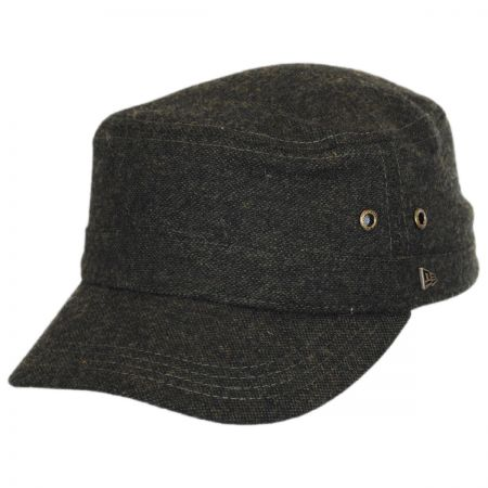 EK Collection by New Era Tweed Wool Blend Military Cap