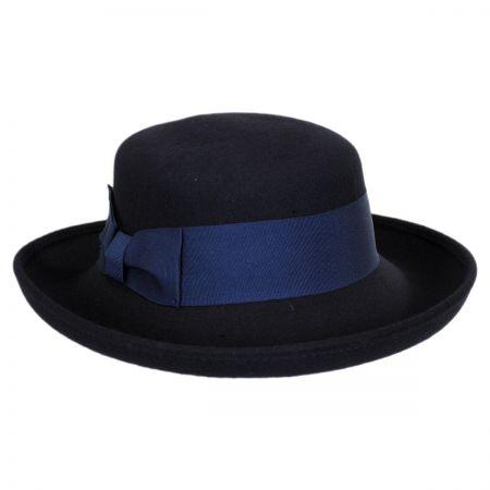 Scala Wool Felt Boater Hat