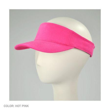 Village Hat Shop Cotton Twill Adjustable Sport Visor