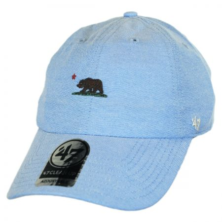 47 Brand Mini Cali Bear Chambray Clean Up Strapback Baseball Cap