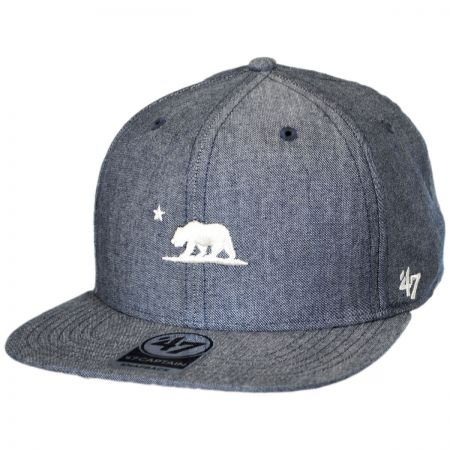 47 Brand Mini Cali Bear Chambray Snapback Baseball Cap