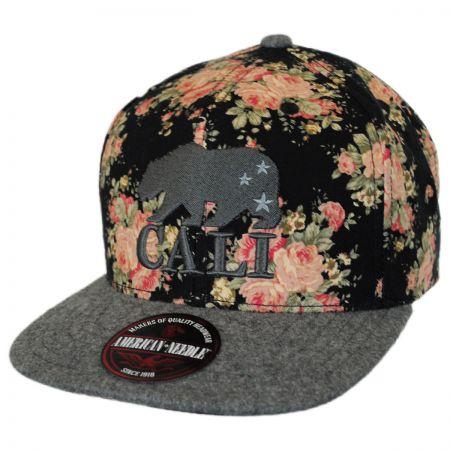 American Needle Garden Cali Bear Snapback Baseball Cap