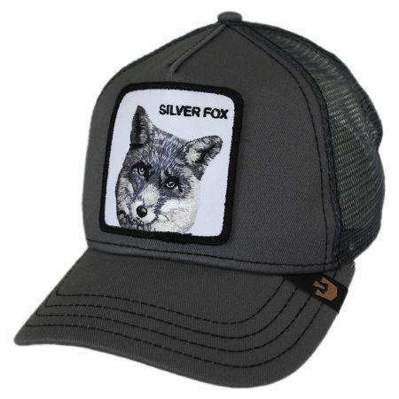 Silver Fox Mesh Trucker Snapback Baseball Cap