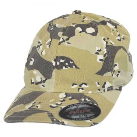 Camo Garment Washed Twill LoPro FlexFit Fitted Baseball Cap alternate view 1