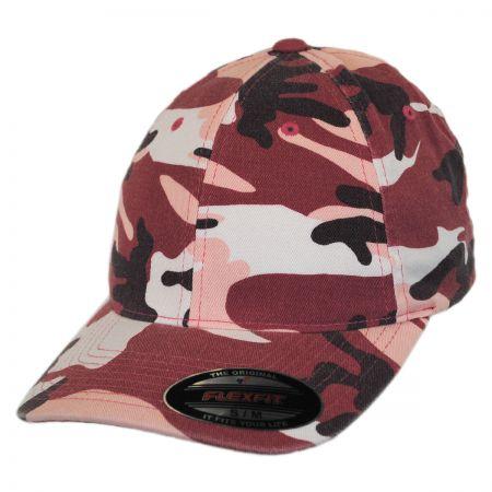 Flexfit Camo Garment Washed Twill LoPro FlexFit Fitted Baseball Cap