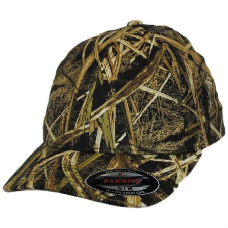 Mossy Oak Shadow Grass Camo MidPro FlexFit Fitted Baseball Cap