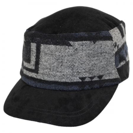 Scala Blanket Band Faux Suede Cadet Cap