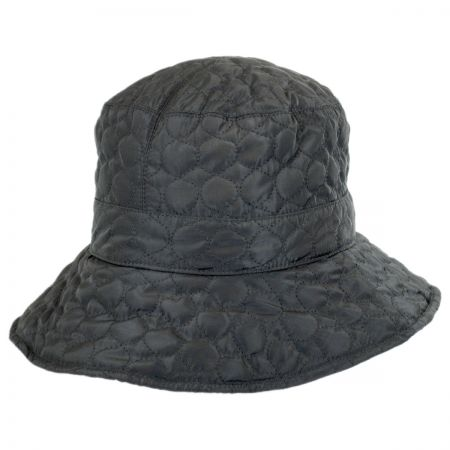 Scala Quilted Polyester Rain Bucket Hat