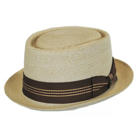 Biltmore Dijon Hemp Straw Pork Pie Hat - Natural