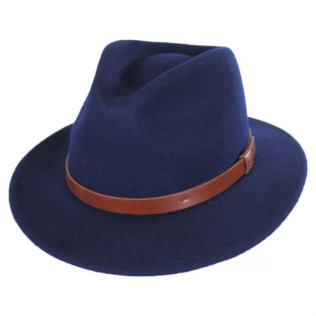 Brixton Hats Messer Wool Felt Fedora Hat
