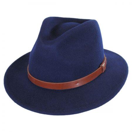 Brixton Hats Messer Wool Felt Fedora Hat