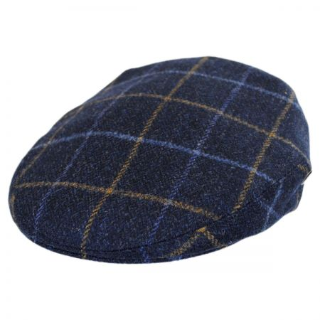 City Sport Caps Cashmere and Wool Plaid Ivy Cap