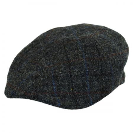 Harris Tweed Plaid Wool Duckbill Ivy Cap
