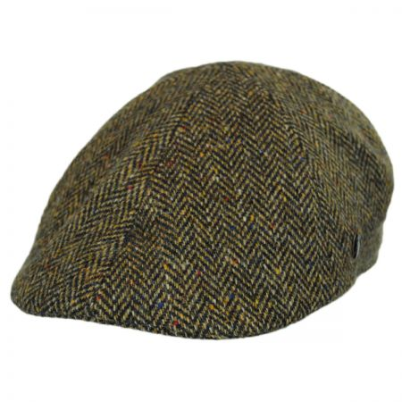 City Sport Caps Donegal Tweed Herringbone Duckbill Ivy Cap
