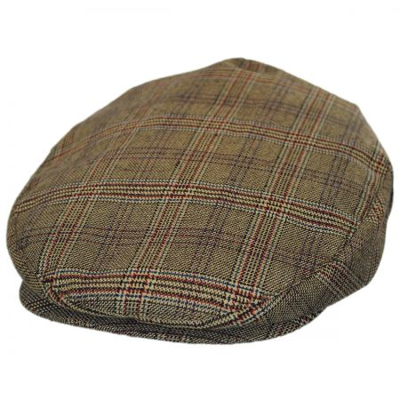 Brixton Hats Hooligan Tan Plaid Ivy Cap