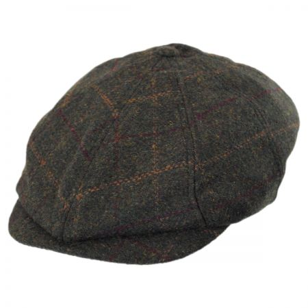 Brixton Hats Brood Woodland Plaid Wool Blend Newsboy Cap