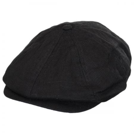 Brixton Hats Brood Linen Newsboy Cap