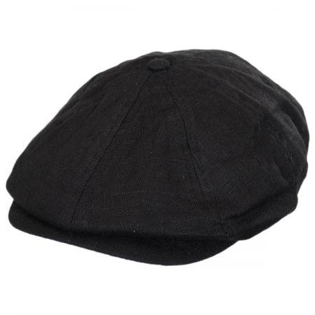 Brixton Hats Brood Linen Newsboy Cap