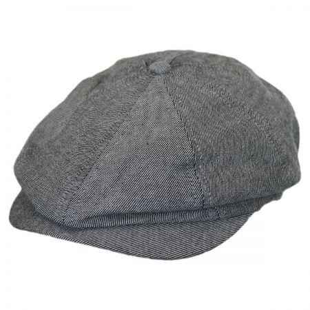 Brixton Hats Brood Striped Cotton Newsboy Cap
