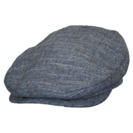 Brixton Hats Seth Linen Leather Strapback Ivy Cap