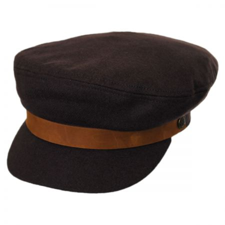 Brixton Hats Leather Band Wool Fiddler Cap