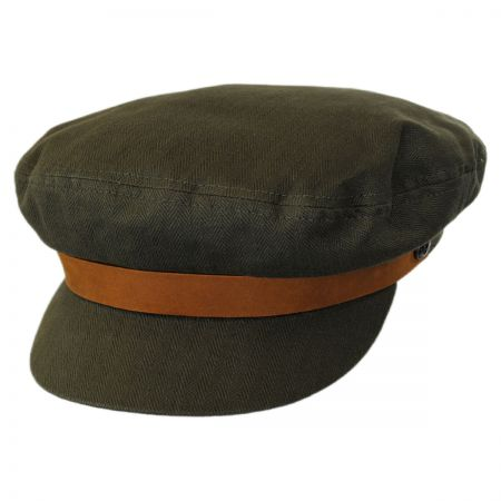 Brixton Hats Leather Band Cotton Fiddler Cap