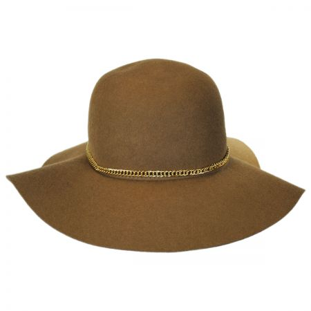 Scala Chain Band Wool Felt Floppy Hat