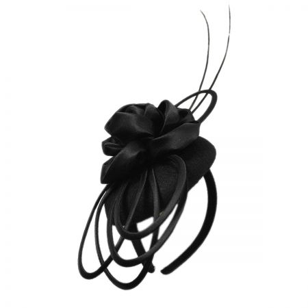Scala Satin Rose Fascinator Headband