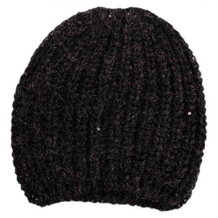 Sequin Knit Beanie Hat alternate view 1