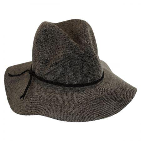 Scala Braided Band Chenille Floppy Fedora Hat