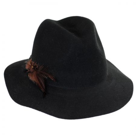 Callanan Hats Feather and Arrow Wool Felt Floppy Fedora Hat