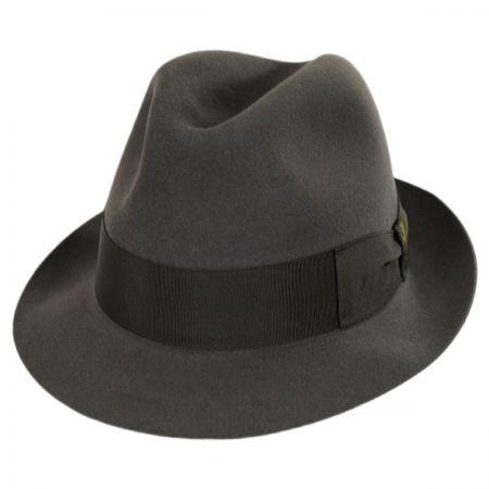 Tasso Fur Felt Stingy Brim Fedora Hat
