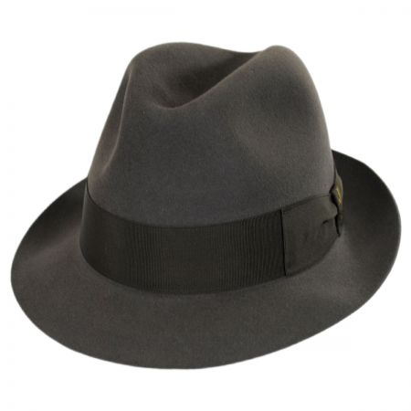 Tasso Fur Felt Stingy Brim Fedora Hat alternate view 17