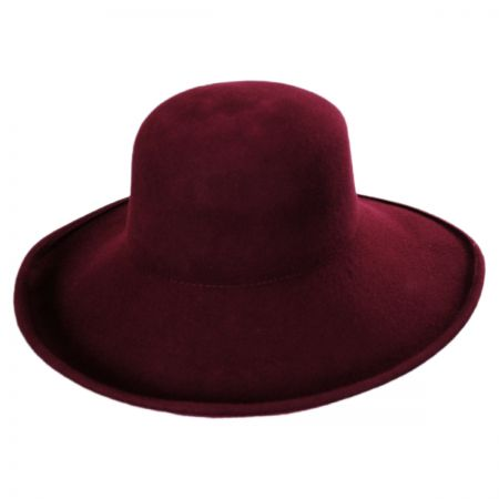 Jeanne Simmons Off Face Wool Felt Hat