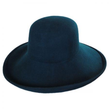 Jeanne Simmons Off Face Wool Felt Hat