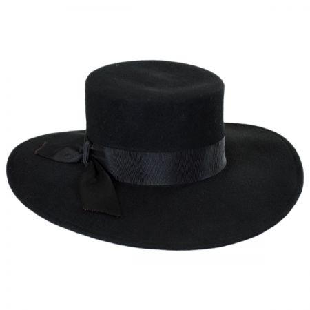 Jeanne Simmons Wide Brim Wool Felt Bolero Hat