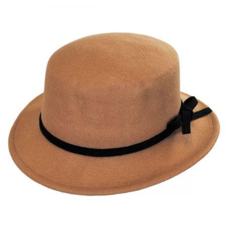 Jeanne Simmons Wool Felt Stingy Brim Bolero Hat