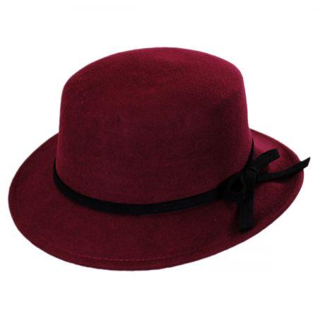 Jeanne Simmons Stingy Brim Wool Felt Bolero Hat