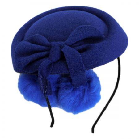 Angora Pom Pillbox Fascinator Hat alternate view 1