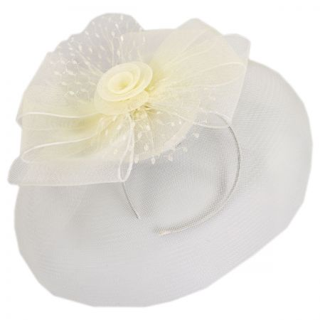 Jeanne Simmons Bow and Rose Fascinator Headband