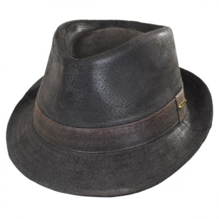 Stetson Weathered Leather Fedora Hat