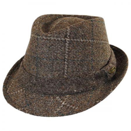 Stetson Italian Plaid Wool Felt Fedora Hat