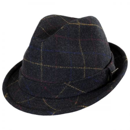 Stetson Windowpane Wool Felt Fedora Hat