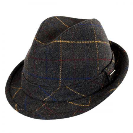 Stetson Windowpane Wool Felt Fedora Hat