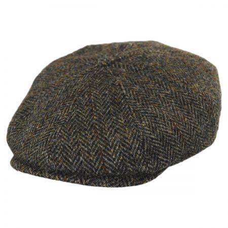 Stetson Harris Tweed Plaid Wool Newsboy Cap
