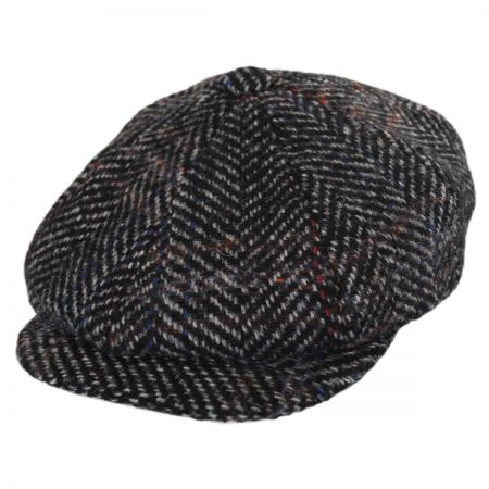 Stetson Italian Herringbone Plaid Wool Newsboy Cap