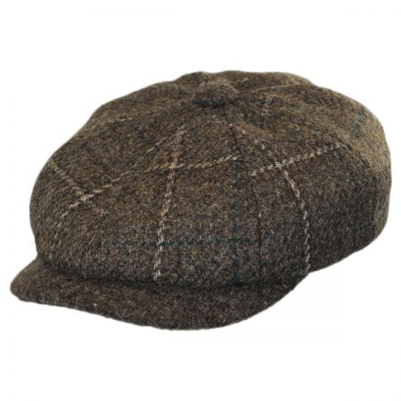 Stetson Italian Plaid Wool Newsboy Cap